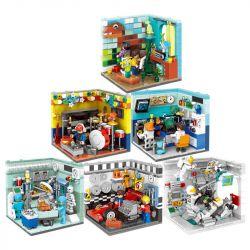 Xingbao XB-01402 (NOT Lego Modular Buildings Future Dreams Rooms ) Xếp hình 6 Căn Phòng Làm Việc lắp được 6 mẫu 2180 khối