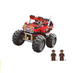 XingBao 03025 City MOC Super bigfoot SUV Xếp hình Xe SUV vượt địa hình bánh lớn 371 khối