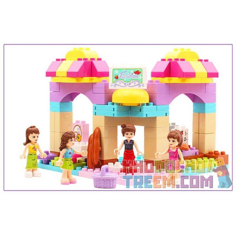 Jdlt Judalongtoys 5238A (NOT Lego Duplo Happy Grocery Store With Girls ) Xếp hình Tiệm Tạp Hóa Vui Nhộn Của Các Cô Gái 95 khối