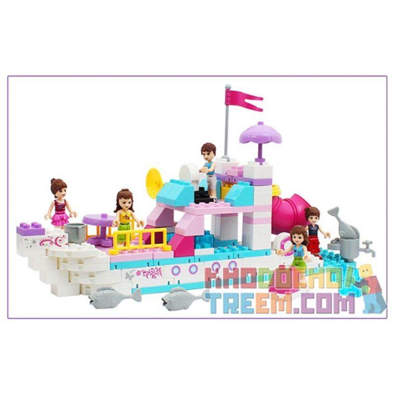 Jdlt Judalongtoys 5236A (NOT Lego Duplo Girls' Yatch On The Great Ocean ) Xếp hình Chuyến Du Thuyền Của Những Cô Gái Ngoài Biển Khơi 118 khối