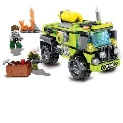 Lego City MOC Sembo SD9550 Rescue Truck Xếp hình Xe tải cứu hộ 242 khối