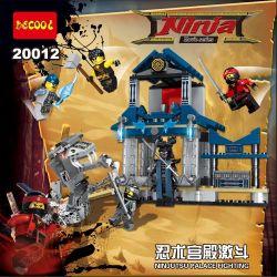 Lego Ninjago MOC Decool 20012 Ninjutsu Palace fighting Xếp hình Cuộc chiến Ninjutsu Palace 406 khối