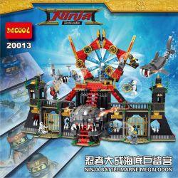 Lego Ninjago MOC Decool 20013 Ninja wars underwater giant Shark Palace Xếp hình Ninja đại chiến cá mập khổng lồ dưới thủy cung 1171 khối