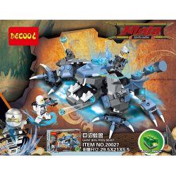 Lego Ninjago MOC Decool 20027 Giant marsh frog beast Xếp hình Cuộc đối đầu của Ninja với thú ếch khổng lồ trong đầm lầy 211 khối
