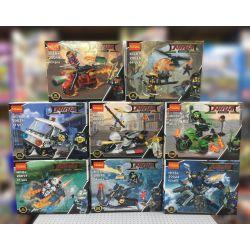 Lego Ninja MOC Decool 20017-20024 Ninja Series 8 characters and Vehicles Xếp hình Bộ 8 ninja cùng phương tiện giao thông độc đáo 434 khối