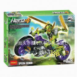 Decool 10188 Hero Factory 6231 Speeda Demon Xếp hình Robot Phản Diện Speeda Demon 192 khối