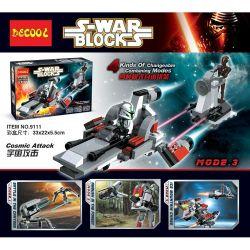 Decool 9111 Star Wars MOC Cosmic Attack Xếp hình Tấn công vũ trụ 189 khối