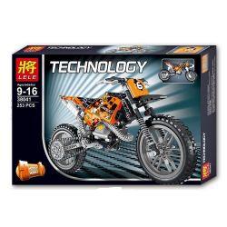 Decool 3373 Lele 38041 Technic 42007 Moto cross bike Xếp hình Xe máy vượt địa hình 253 khối