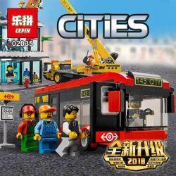 Lepin 02035 City 60026 Town Square Xếp hình Quảng trường thành phố 1024 khối