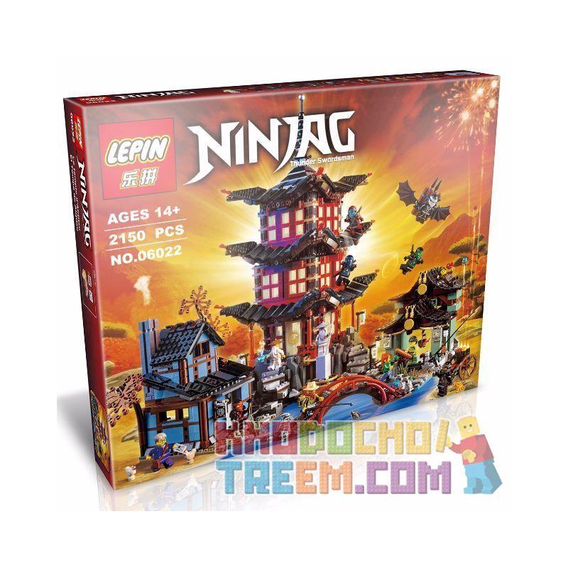 Lepin 06022 Bela 10427 Lele 79247 (NOT Lego Ninjago Movie 70751 Temple Of Airjitzu ) Xếp hình Đền Tập Luyện Của Ninja 2150 khối