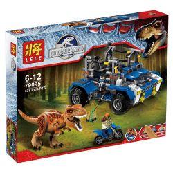 Lele 79095 (NOT Lego Jurassic World 75918 T-Rex Tracker ) Xếp hình Truy Đuổi Khủng Long Bạo Chúa 538 khối