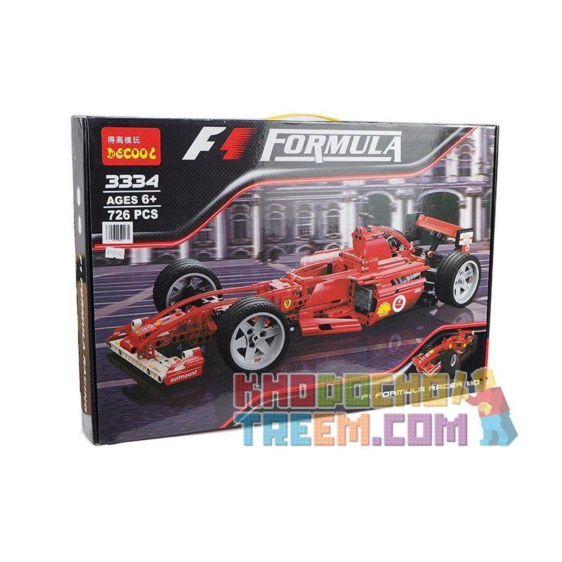 Decool 3334 Yile 005 Technic 42000 8386 Ferrari F1 Racer 1:10 Xếp hình Xe đua công thức 1 tỉ lệ 1:10 726 khối