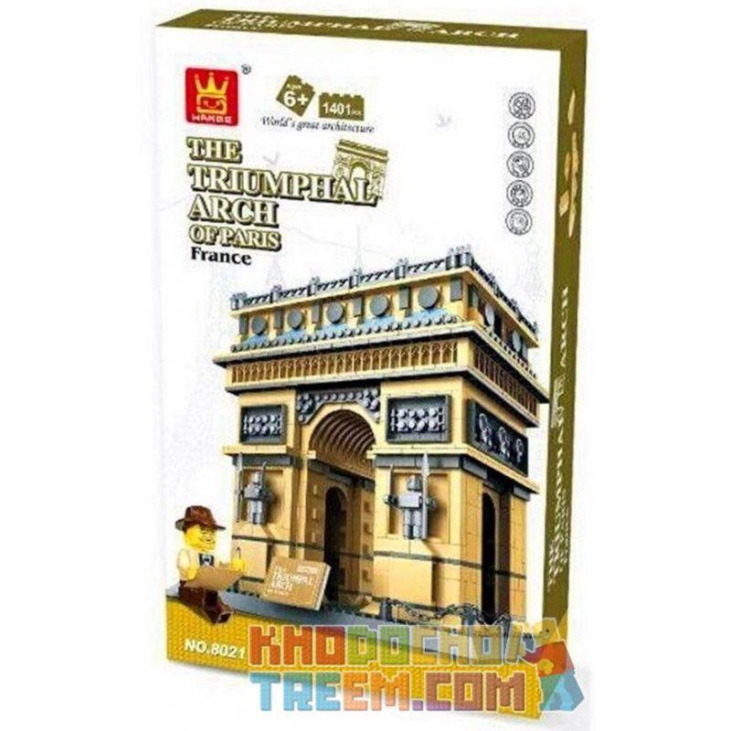 Wange 8021 5223 (NOT Lego Architecture The Triumphal Arch Of Paris ) Xếp hình Cổng Khải Hoàn Môn gồm 2 hộp nhỏ 1401 khối