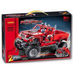 Decool 3362 Lele 38038 Technic 42029 Customised Pick-Up Truck Xếp hình 2 Dạng Xe Bán Tải Độ Và Máy Cày Có Cần Gắp 1063 khối
