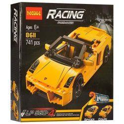 Decool 8611 Technic 8169 Lamborghini (2 models) Xếp hình Siêu xe Lamborghini (lắp được 2 hình dạng xe khác nhau) 741 khối