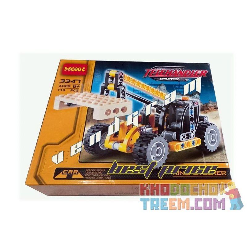 Decool 3347 Technic 8045 Mini Telehandler Xếp Hình Xe Cẩu Nâng Hàng Màu Vàng đen (Mẫu 1) 119 Khối