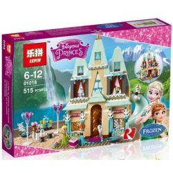 Lepin 01018 Lele 79277 Sheng Yuan SY371 Jiego JG303 Disney Princess 41068 Arendelle Castle Celebration Xếp hình Sinh nhật Anna tại lâu đài Arendelle 515 khối