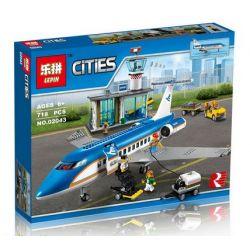 Lepin 02043 City 60104 Airport Passenger Terminal Xếp hình Sân Bay Quốc Tế 718 khối