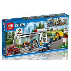 Lepin 02047 City 60132 Service Station Xếp hình Trạm bán xăng và sửa xe 540 khối