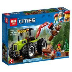 Lepin 02092 City 60181 Forest Tractor Xếp hình Máy kéo gỗ tối tân 339 khối