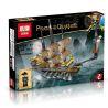 Lepin 03058 Pirates of the Caribbean Black Pearl Queen Anne's Reveage Slient Mary Xếp hình Bộ 4 Tàu Cướp Biển Thu Nhỏ 1117 khối