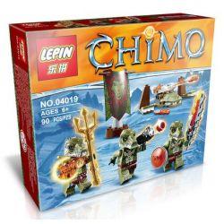 Lepin 04019 Lele 78088B Elephan JX70001B Chima 70230 Ice Bear Tribe Pack Xếp hình Bộ lạc gấu băng 72 khối