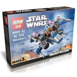 Lepin 05011 Star Wars 75125 Resistance X-wing Fighter Xếp hình phi thuyền chiến đấu cánh chữ X 93 khối