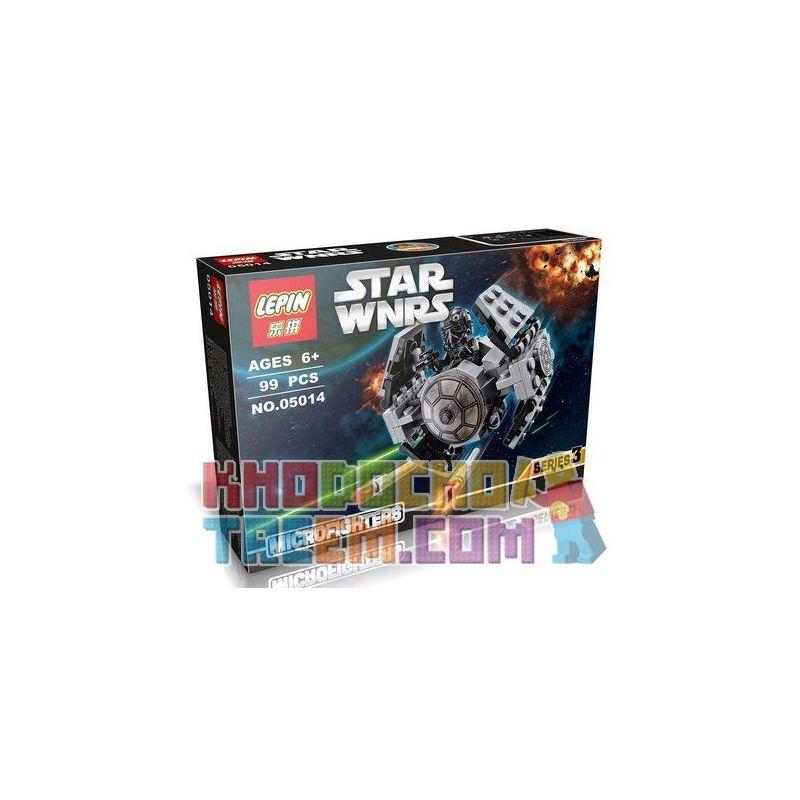Lepin 05014 Star Wars 75128 TIE Advanced Prototype Xếp hình phi thuyền TIE đời mới 102 khối
