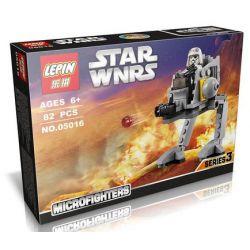 Lepin 05016 Star Wars 75130 AT-DP Microfighter Xếp hình tàu đi bộ cá nhân bản thu nhỏ 85 khối