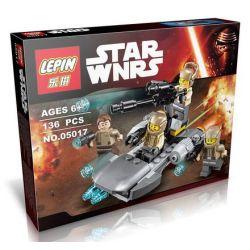 Lepin 05017 Star Wars 75131 Resistance Trooper Battle Pack Xếp hình đội quân kháng chiến 136 khối