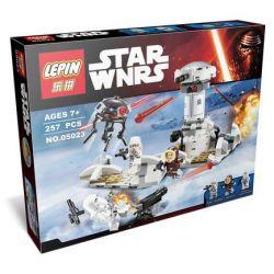 Lepin 05023 Star Wars 75138 Hoth Attack Xếp hình cuộc tấn công 257 khối
