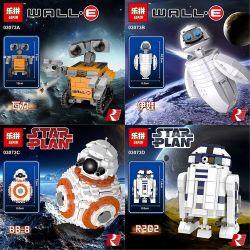 Lepin 03073 Star Wars MOC The 4 Robots In 1 Mini Wall-E, EVA, BB-8 & R2-D2 Xếp hình 4 Robots Mini Wall-E, EVA, BB-8 & R2-D2 trong một bộ 1074 khối