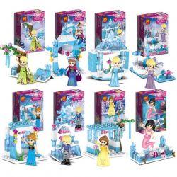 Lele 37051 (NOT Lego Disney Princess Happy Princess ) Xếp hình Các Nàng Công Chúa Vui Vẻ 8 khối