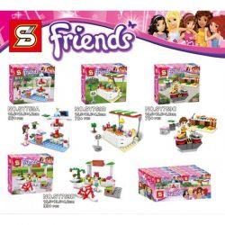 Lele 759 Friends MOC Girl Friends Minifigura Xếp hình những người bạn gái 4 khối