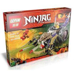 Lepin 06001 Bela 10318 Lele 79039 Sheng Yuan SY333 Ninjago Movie 70745 Anacondrai Crusher Xếp hình Tấn Công Chiến Xa Mãng Xà 230 khối