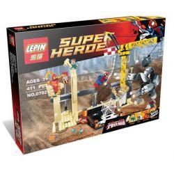 Lepin 07021 Sheng Yuan SY511 Super Heroes 76037 Rhino and Sandman Super Villain Team-up Xếp hình liên minh người Hà Mã và người Cát 411 khối