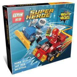 Lepin 07026 Super Heroes 76063 Mighty Micros: The Flash vs. Captain Cold Xếp hình người hùng Tia Chớp đại chiến Đội trưởng Băng giá 73 khối