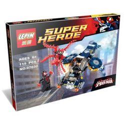 Lepin 07030 Super Heroes 76036 Carnage's SHIELD Sky Attack Xếp hình tấn công phi thuyền Shield 119 khối