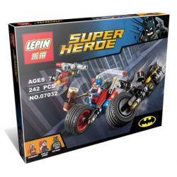 Lepin 07032 Super Heroes 76053 Gotham City Cycle Chase Xếp hình rượt đuổi Miêu nữ ở thành phố gotham 242 khối