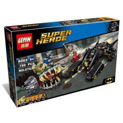Lepin 07037 Sheng Yuan 842 SY842 (NOT Lego DC Comics Super Heroes 76055 Batman: Killer Croc Sewer Smash ) Xếp hình Xe Tăng Người Dơi Tấn Công Người Cá Sấu 759 khối
