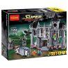 Lepin 07044 Decool 7124 (NOT Lego DC Comics Super Heroes 10937 Batman: Arkham Asylum Breakout ) Xếp hình Người Dơi: Vượt Ngục Arkham Asylum 1685 khối