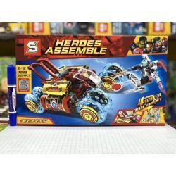 Sheng Yuan 7028 Super Heroes MOC Heroes Assemble Iron man Xếp hình xe đua tốc độ của người sắt 220 khối