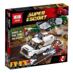 Lepin 07076 Super Hero 76083 Beware the Vulture Xếp hình Đại Chiến Chống Lại Người Kền Kền Vulture 400 khối