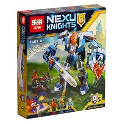 Lepin 14008 Bela 10487 Sembo SY565 Lele 79246 Nexo Knights 70327 The King's Mech Xếp Hình Robot Hiệp Sĩ Của Nhà Vua 390 Khối
