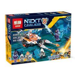 Lepin 14027 Bela 10592 (NOT Lego Nexo Knights 70348 Lance's Twin Jouster ) Xếp hình Xe Thương Đôi Đấu Giáo Sét 220 khối