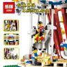 Lepin 15013 15013A (NOT Lego 10196 Grand Carousel ) Xếp hình Vòng Xoay Ngựa Gỗ Lớn Động Cơ Pin gồm 2 hộp nhỏ 3263 khối
