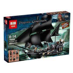 Lepin 16006 Lele 39009 Sheng Yuan 1198 SY1198 (NOT Lego Pirates of the Caribbean 4184 The Black Pearl ) Xếp hình Con Tàu Ngọc Trai Đen Huyền Thoại 804 khối