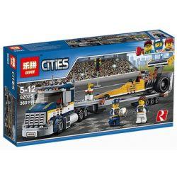 Lepin 02025 Bela 10650 City 60151 Dragster Transporter Xếp Hình Dragster Transporter 360 Khối