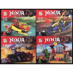 Sheng Yuan SY792 Ninja Movies MOC Thunder Sworosman Xếp hình chiến binh sấm sét 328 khối