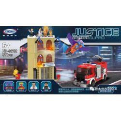 XingBao Xb-02102 City MOC Fire homes and fire engines car Xếp hình Ngôi nhà bị hỏa hoạn và chiếc xe chữa cháy. 578 khối